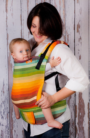(Standard Size) Full Wrap Conversion Tula Baby Carrier - Girasol Iridescence Azafran Weft - Baby Tula