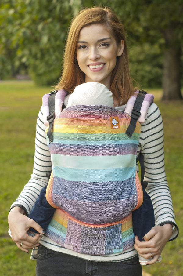 Full Toddler WC Carrier - Mystic Rainbow Crema - Baby Tula