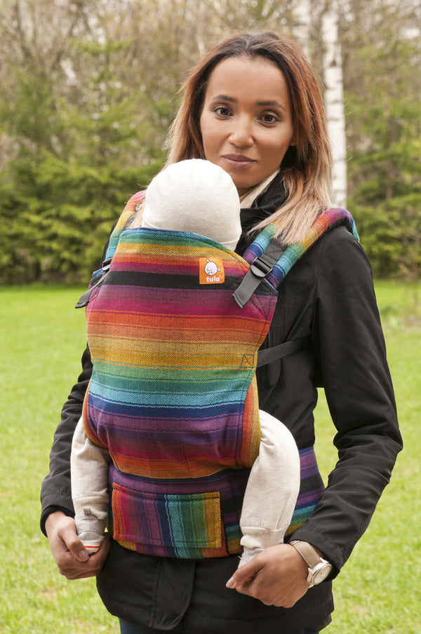 Half Toddler WC Carrier - Obsession Cuervo Weft - Baby Tula