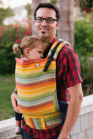 (Standard Size) Full Wrap Conversion Tula Baby Carrier - Girasol Radiating Rainbow - Baby Tula