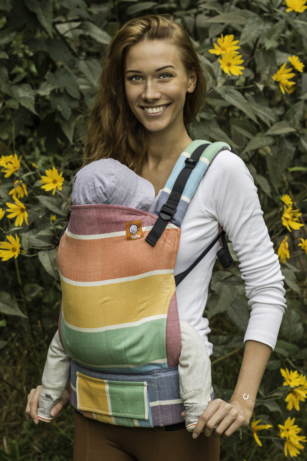 Half Toddler WC Carrier - Rainbow Fischgrat - Baby Tula