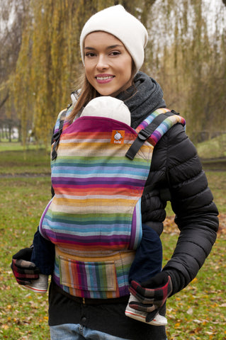 Half Toddler WC Carrier - Rebell Rainbow Purpura Romana - Baby Tula
