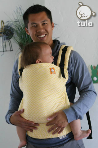(Standard Size) Half Wrap Conversion Tula Baby Carrier - TULA Golden Slumbers Sunburst (Linen Blend) - Baby Tula