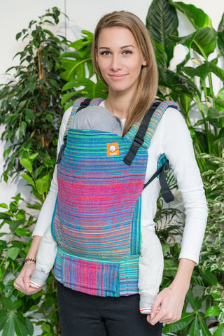 Half Standard Wrap Conversion Carrier - Look to the Heavens Natty Weft - Baby Tula