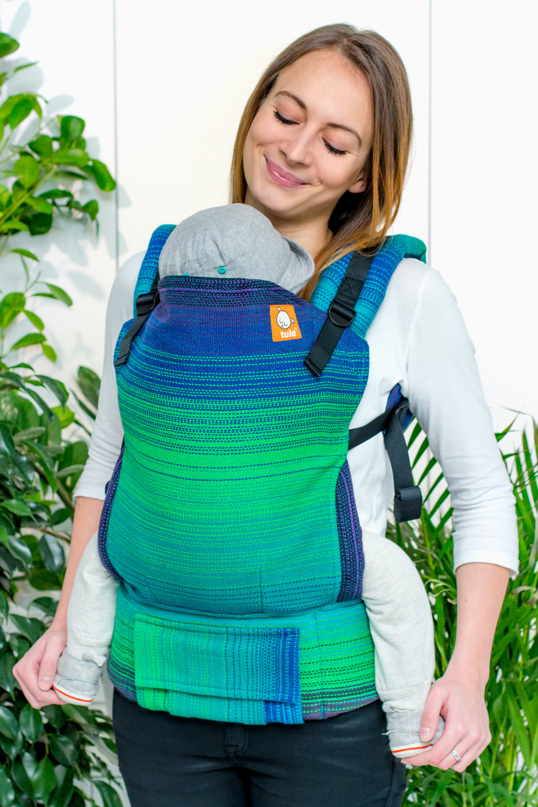 Half Toddler Wrap Conversion Carrier - The Happiest Bird Peacock Weft 2 - Baby Tula