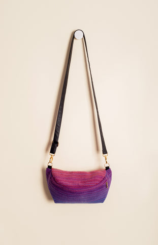 Apple Blossom Wovens + ChiciBeanz Handwoven Sugar Reef (purple weft/twill weave) - Tula Signature Hip Pouch