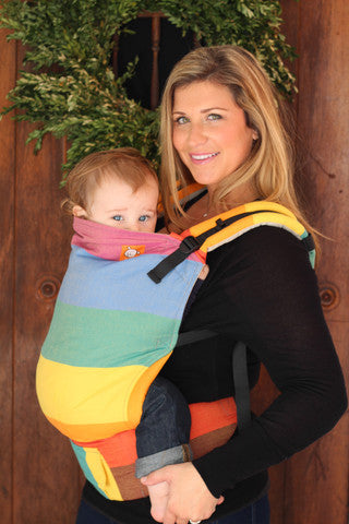 (Toddler Size) Half Wrap Conversion Tula Toddler - EasyCare Rainbow - Baby Tula