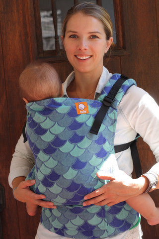 (Standard Size) Full Wrap Conversion Tula Baby Carrier - KoKaDi Nixe Blue - Baby Tula