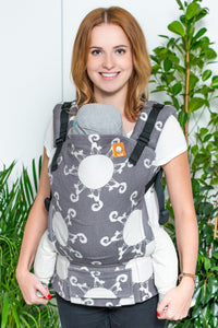 Half Standard Wrap Conversion Carrier - Cats in Space Edward - Baby Tula