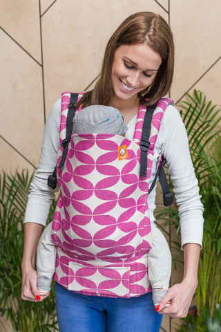 Half Toddler Wrap Conversion Carrier - Tulpenstern Ela - Baby Tula