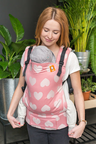 Full Toddler Wrap Conversion Carrier - Love Cotton Candy - Baby Tula