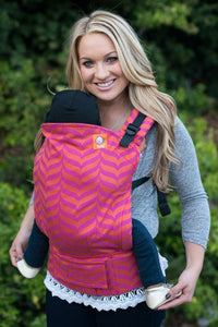 Full Toddler Wrap Conversion Carrier - Tula Migaloo Sorbet - Baby Tula