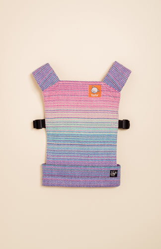 Apple Blossom Wovens + ChiciBeanz Handwoven Dreamer (natural weft/twill weave) - Tula Signature Mini Doll Carrier