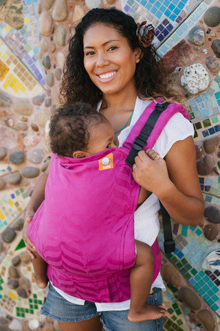 (Standard Size) Full Wrap Conversion Tula Baby Carrier - Tula Mockingbird Pitaya - Baby Tula