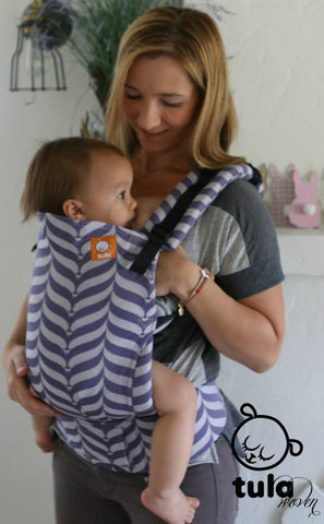 (Standard Size) Half Wrap Conversion Tula Baby Carrier - TULA Mockingbird Acai (Purple) - Baby Tula