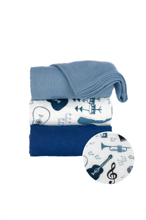 Music Lessons - Tula Baby Blanket Set