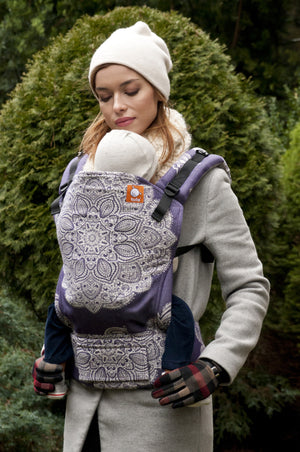 Half Toddler WC Carrier - Adornos Purple_White - Baby Tula