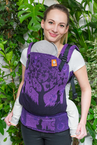 Half Toddler Wrap Conversion Carrier - Bubbles Purple - Baby Tula