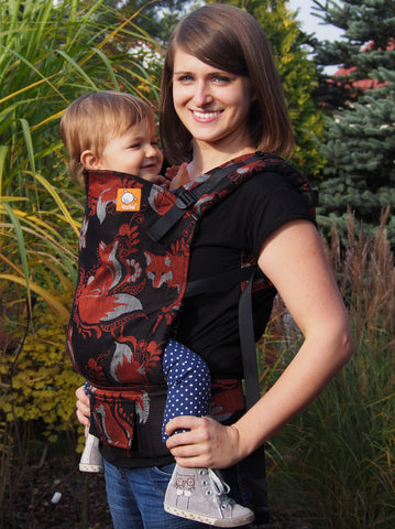 (Standard Size) Half Wrap Conversion Tula Baby Carrier - Natibaby Foxes - Baby Tula