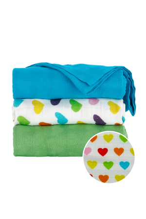 Rainbow Hearts Oliver - Tula Blanket Set