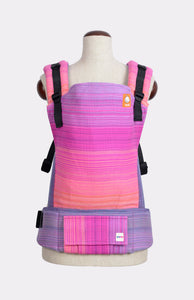 Half Standard Wrap Conversion Carrier - OobieBean&Dolly Alice Fuchsia Weft - Baby Tula