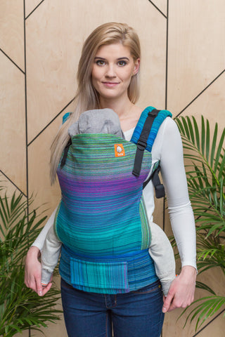 Half Standard Wrap Conversion Carrier - Julian Peacock Weft - Baby Tula