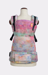 Half Standard Wrap Conversion Carrier - Oolaloom Woodstock Light Pink Weft - Baby Tula