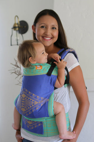 (Standard Size) Half Wrap Conversion Tula Baby Carrier - Oscha Teo Aztlan - Baby Tula