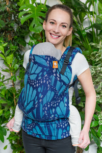 Half Toddler Wrap Conversion Carrier - Monarch Twilight - Baby Tula