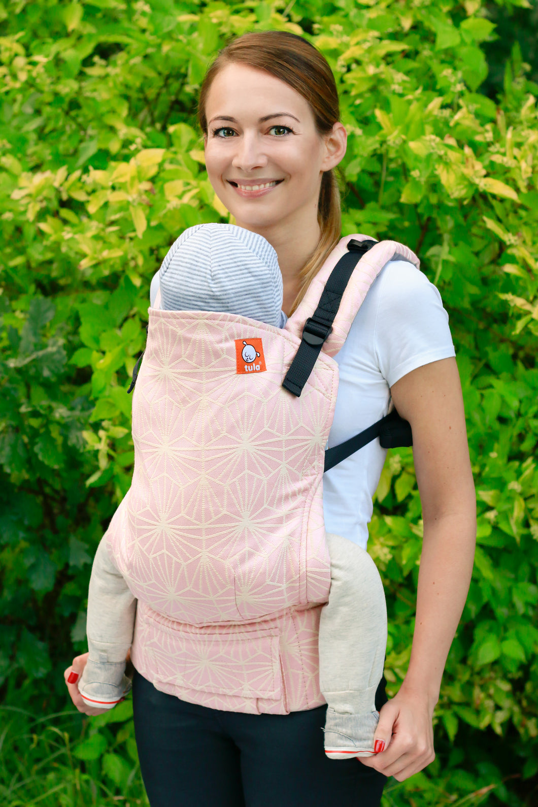 Half Toddler Wrap Conversion Carrier - Pink Nova Polaris Cosmopolitan - Baby Tula