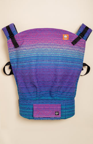 Apple Blossom Wovens + ChiciBeanz Handwoven Dreamer (bleu weft) - Tula Signature Preschool Carrier