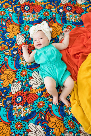 Psychedelic Floral - Tula Baby Blanket Set