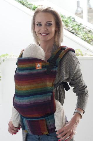 Half Toddler WC Carrier - Rainbow Ripple Cuervo Herringbone - Baby Tula
