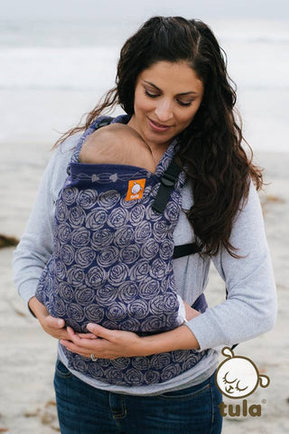 (Standard Size) Half Wrap Conversion Tula Baby Carrier - Oscha Roses Eventide - Baby Tula
