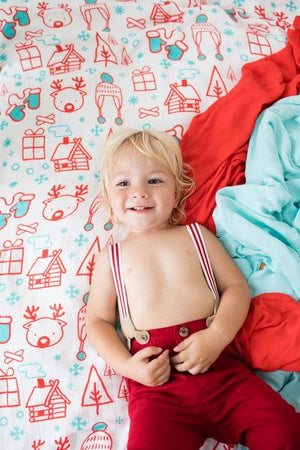 Snow Day - Tula Baby Blanket Set - Baby Tula