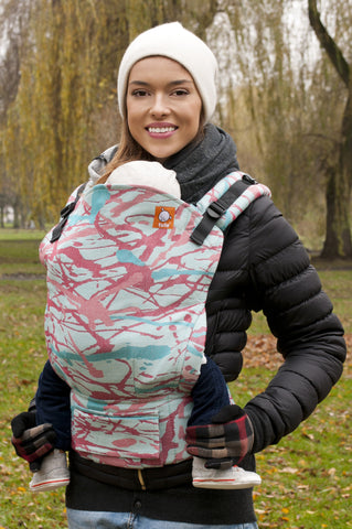 Solnce Convergence Turquoise Red - Tula Signature Baby Carrier
