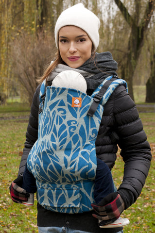 Half Toddler Wrap Conversion Carrier - Genesis Petrol Blue - Baby Tula