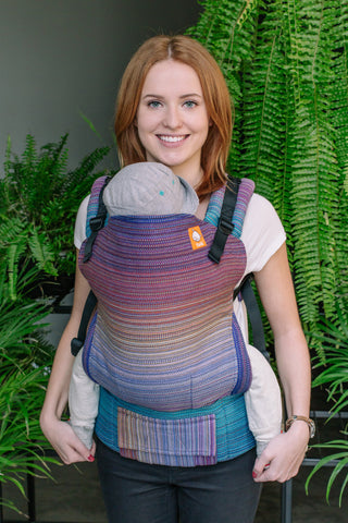 Half Standard Wrap Conversion Carrier - Aurora Bright Blue Weft - Baby Tula