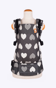 Full Standard Wrap Conversion Carrier - Tula Love Motif Noir - Baby Tula