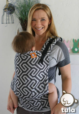(Standard Size) Half Wrap Conversion Tula Baby Carrier - TULA Uno Shadow (Black) - Baby Tula