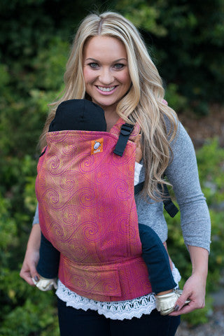 (Standard Size) Full Wrap Conversion Tula Baby Carrier - Tula Zephyr Rose - Baby Tula