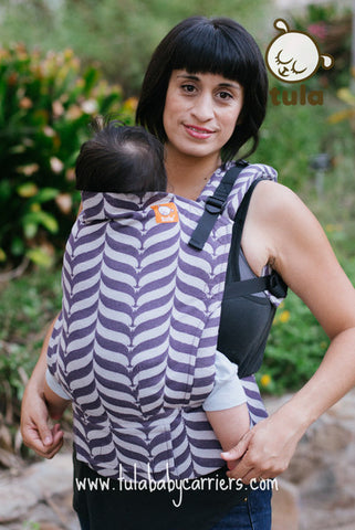 (Standard Size) Full Wrap Conversion Tula Baby Carrier - Tula Mockingbird Plum - Baby Tula
