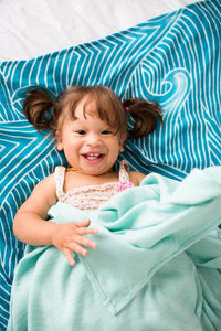 Waves - Tula Baby Blanket Set - Baby Tula