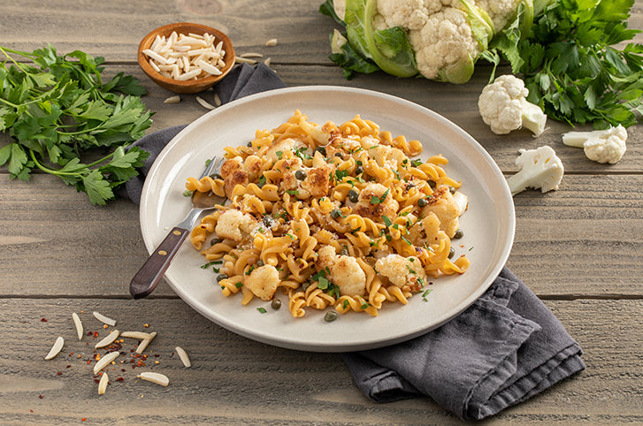 ZENB Rotini with Pan-Roasted Sicilian Cauliflower Caponata