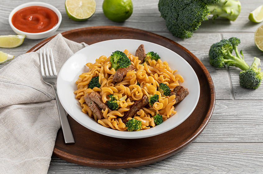 Easy Beef Tenderloin, Broccoli, & ZENB Rotini Stir-Fry