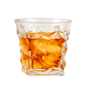 Bar & Barrel - Premium Diamond Cut Crystal Whiskey Glasses Gift Set