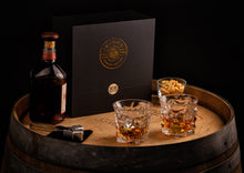 Load image into Gallery viewer, Bar & Barrel - Premium Diamond Cut Crystal Whiskey Glass with Chiller Stones