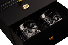Load image into Gallery viewer, Bar & Barrel - Premium Diamond Cut Crystal Whiskey Glasses Gift Set
