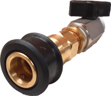 "Load image into Gallery viewer, 1/2"" Quarter turn valve with a 3/8"" Female Quick Disconnect"
