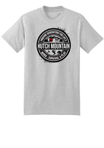 Hutch Mountain Short Sleeve T-Shirt (Grey, Large Logo) Front